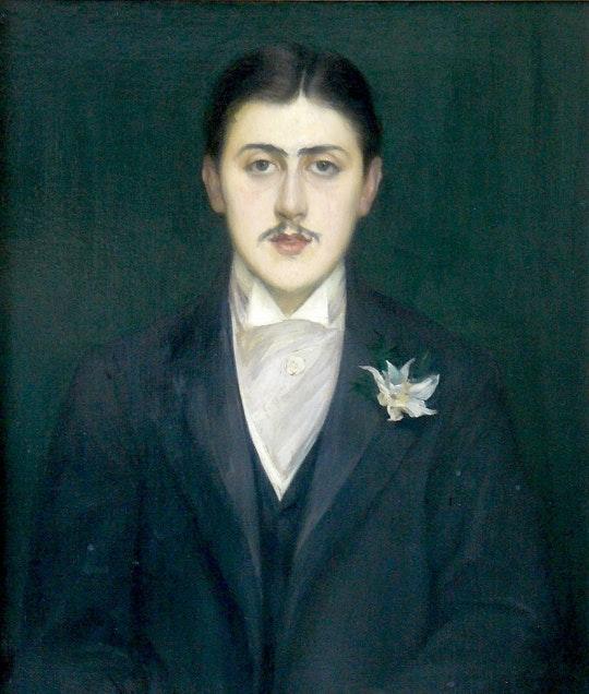 Retrato de Marcel Proust por Jacques-Émile Blanche (1892), quando Proust tinha 21 anos.Fonte