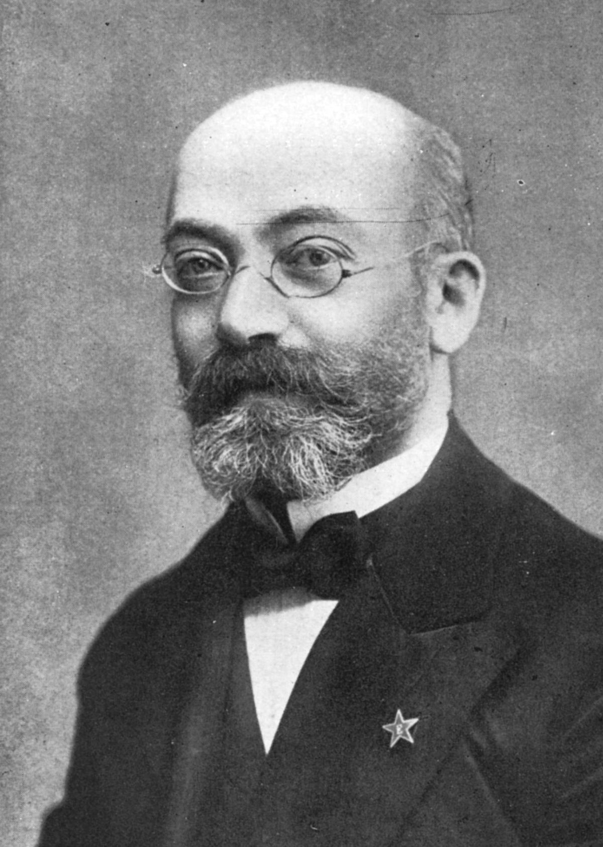 O criador do esperanto: Ludwig Zamenhof, em 1908.