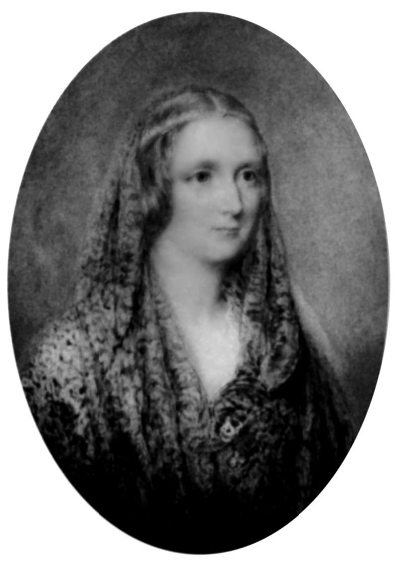 Mary Shelley, por Richard Rothwell, 1840. Fonte