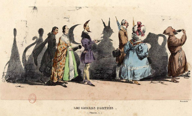 Uma ilustração do famoso caricaturista do século 19, J. J. Grandville.