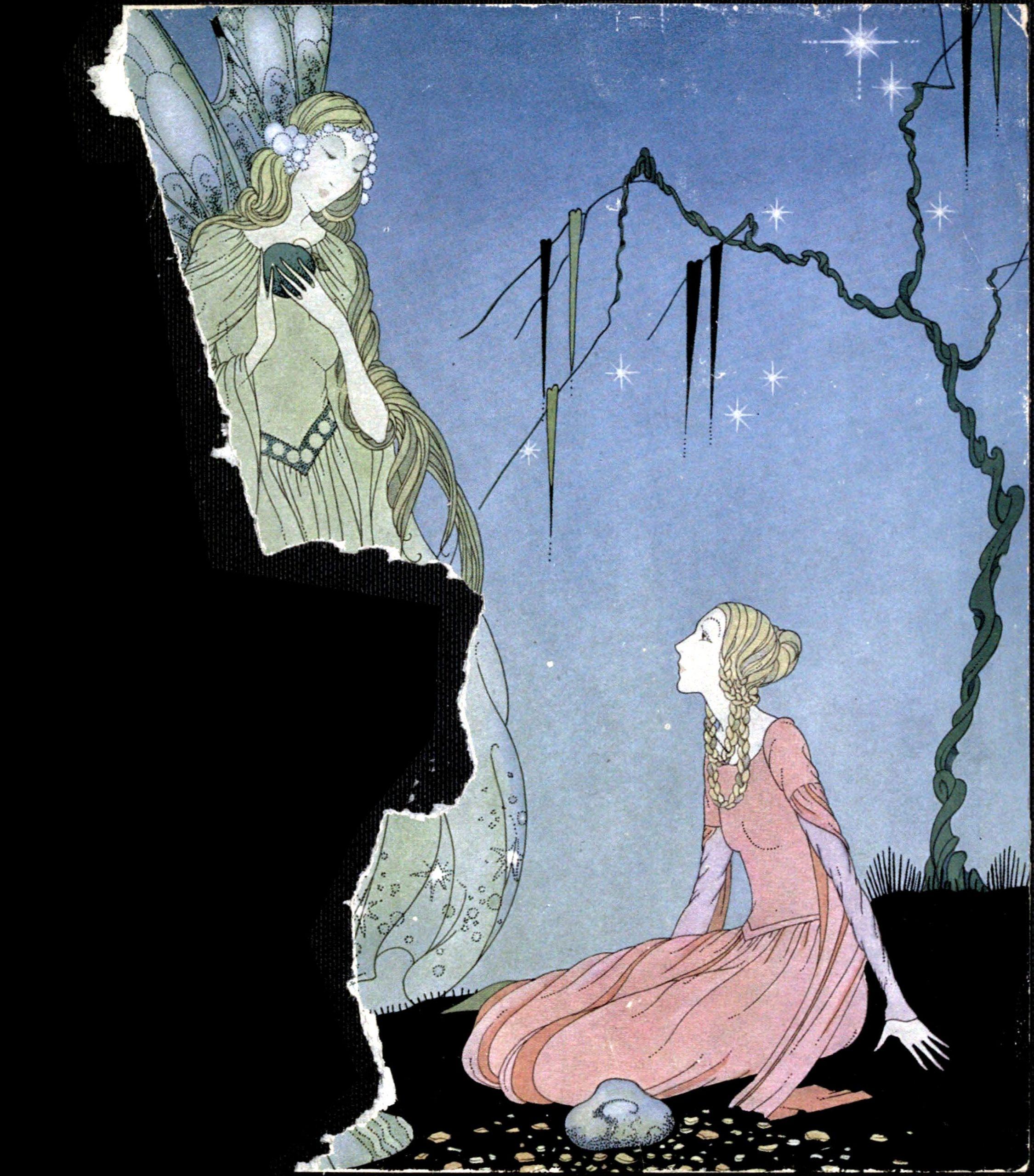 Ilustração de Virginia Frances Sterret para o livro Old French Fairy Tales (1920).