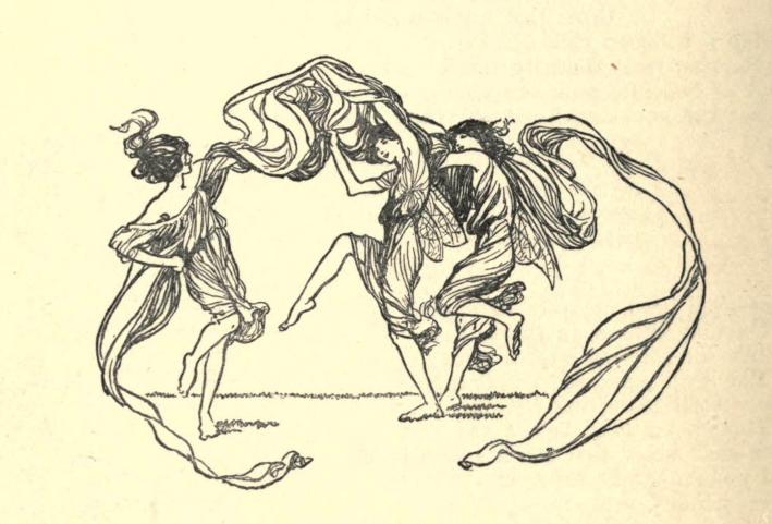 """As ilustrações de fadas de que Frances e Elsie basearam suas figuras recortadas, de """"Um Feitiço para uma Fada"""", de Alfred Noyes, publicado no livro Princesa Maria Presente (1915) — Fonte."""