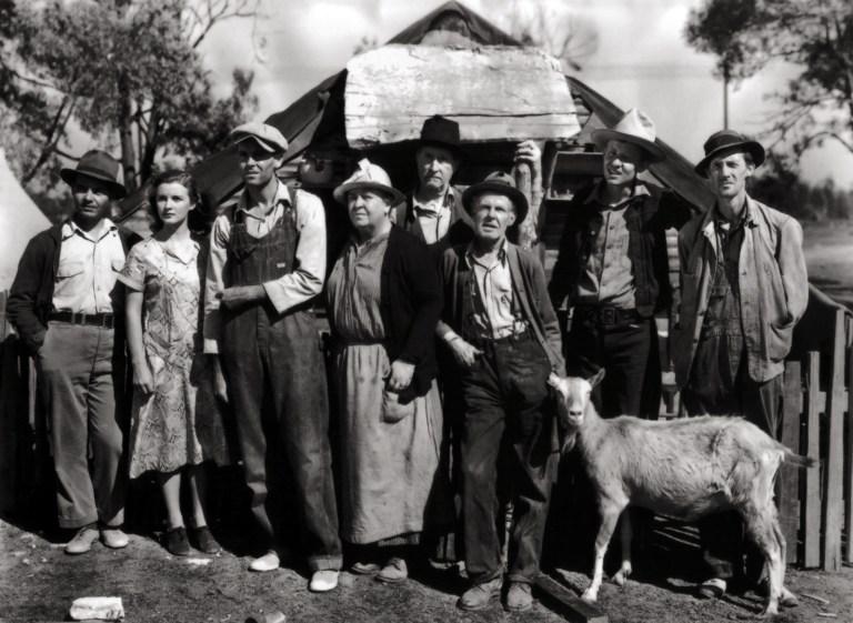O elenco The Grapes of Wrath (1940), dirigido por John Ford.