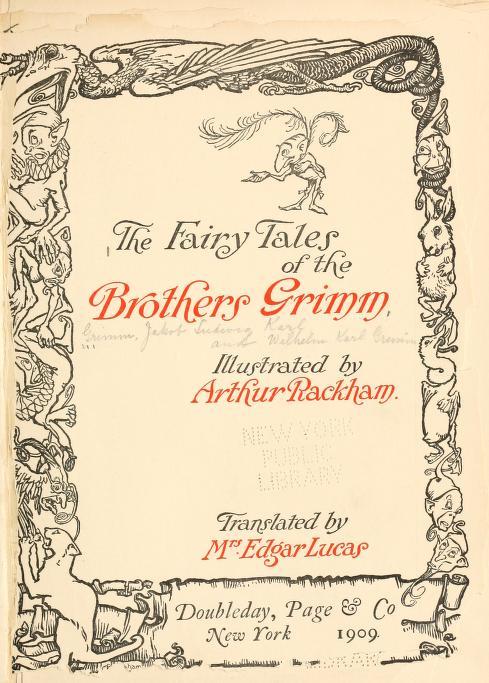Ilustração de Arthur Rackham (1916) para a tradução inglesa da edição de Kinder-und Hausmärchen.