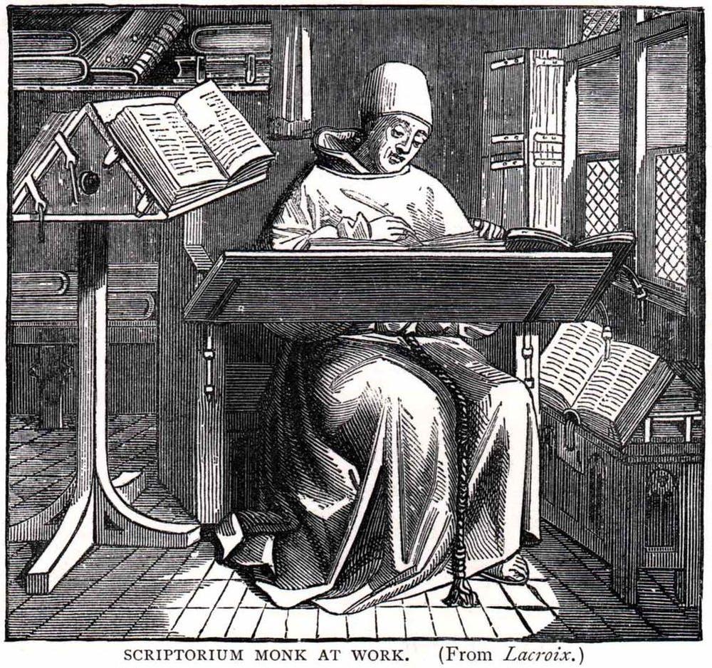 Scriptorium monástico.