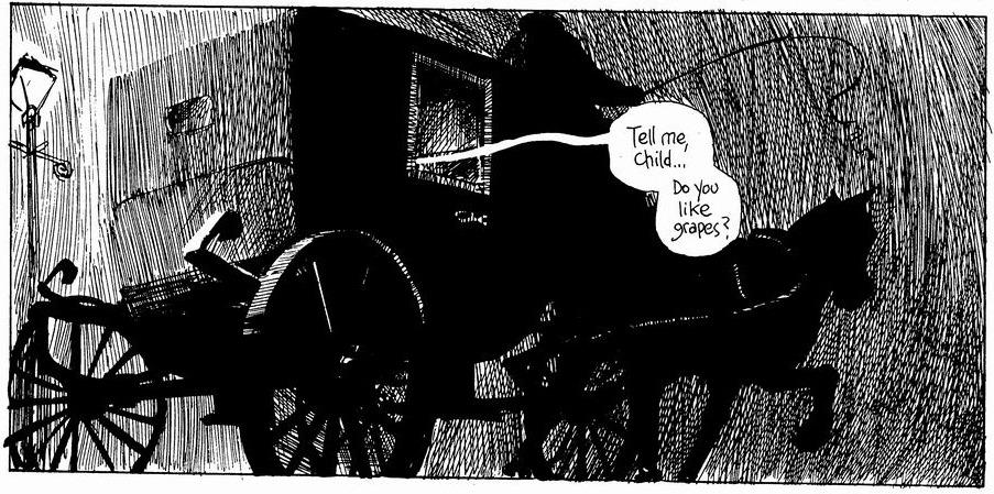 Ilustração de Eddie Campbell para From Hell.