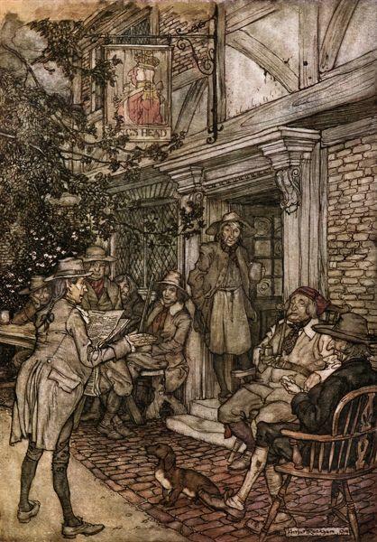 Ilustração de Arthur Rackham para o livro Rip Van Winkle (1904).