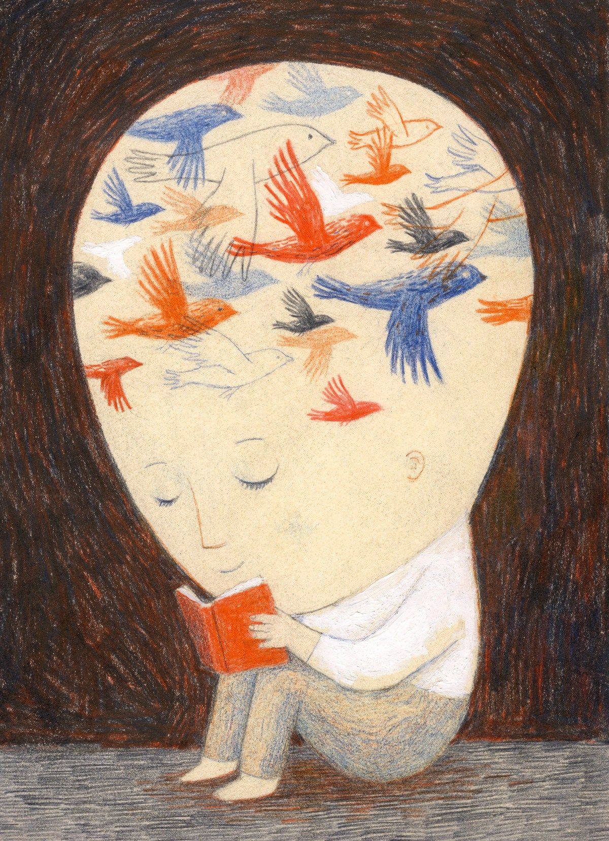 Arte de Ofra Amit para A Velocity of Being: Letters to a Young Reader.