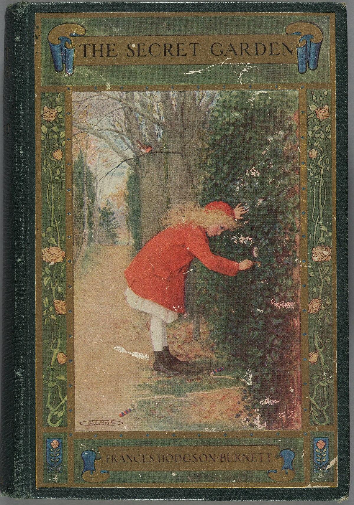 Capa da edição estadunidense de O jardim secreto.