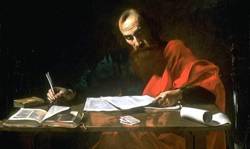 A tradução literária é antiquíssima (a Bíblia é um ótimo exemplo) e é improvável que desapareça tão cedo. São Paulo escreve suas epístolas, por Valentin de Boulogne, 1618.