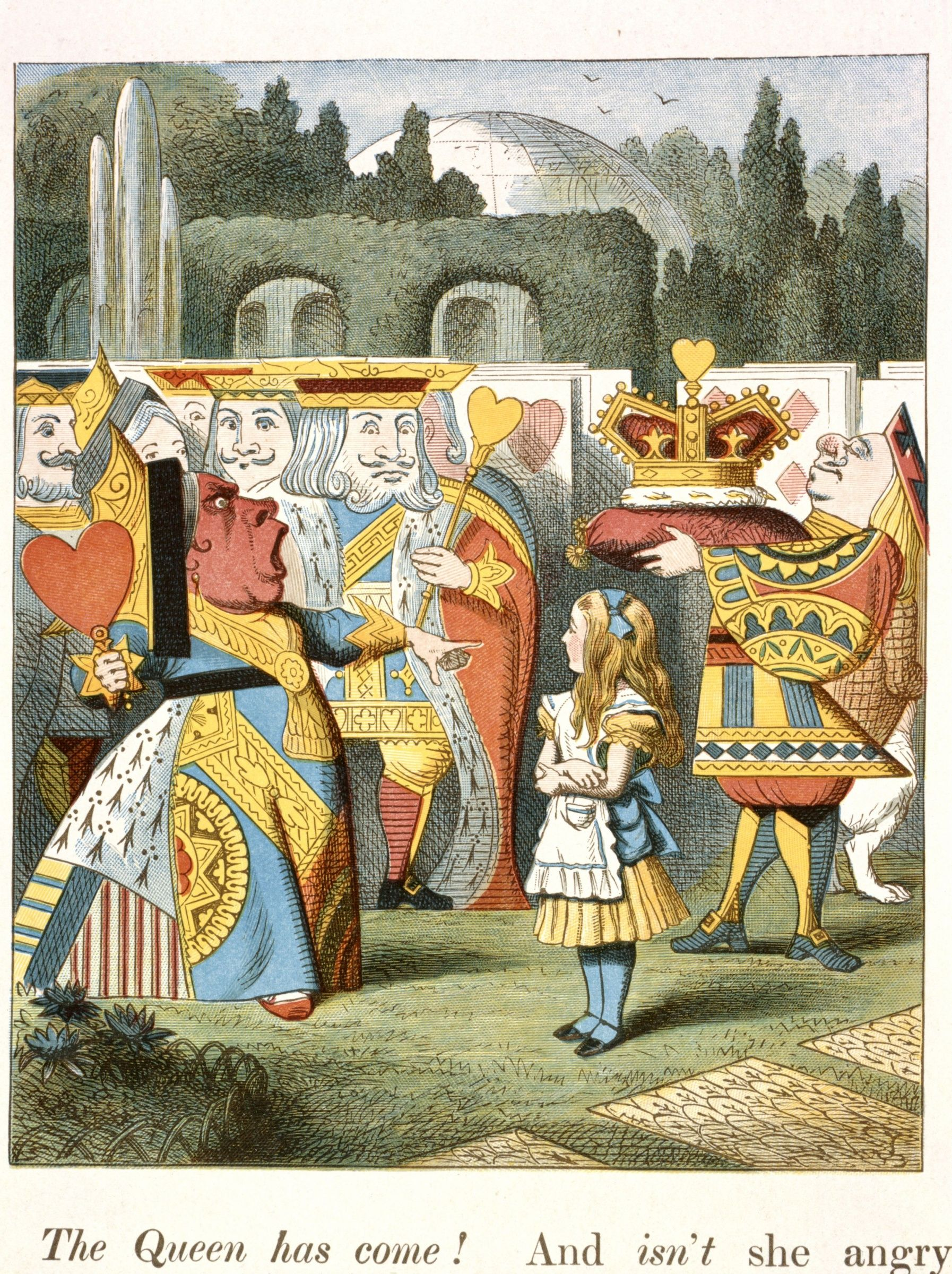 "Ilustração original de John Tenniel para ""The Adventures of Alice in Wonderland"", escrito por Lewis Carroll"