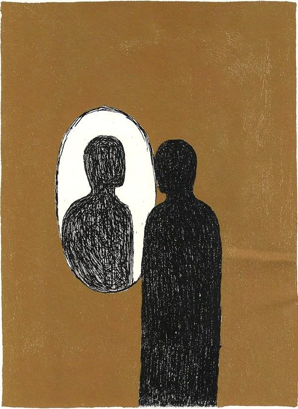 Ilustração de Mimmo Paladino para uma rara edição de Ulysses.